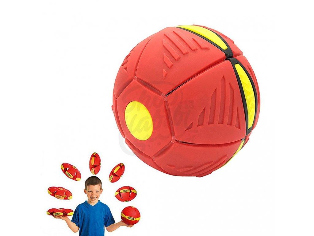 Flat Ball - placatý míč (Červený)