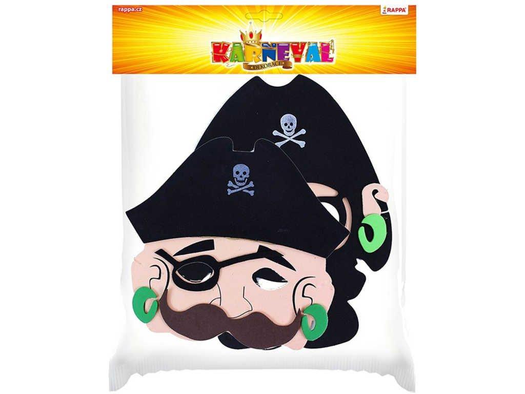 KARNEVAL Maska pirátská set 2 druhy v sáčku KARNEVALOVÝ DOPLNĚK