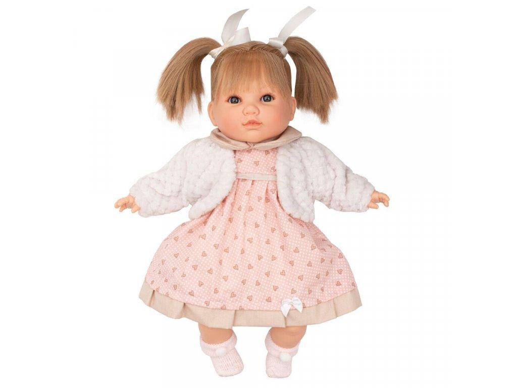 Luxusní mluvící dětská panenka-holčička Berbesa Natálka 40cm - růžová  + Nanopodložka, loupač, nebo desinfekce