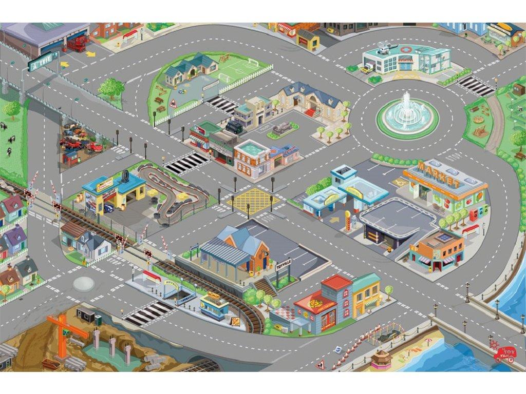 Le Toy Van Hrací koberec PLAYMAT město 80x120cm