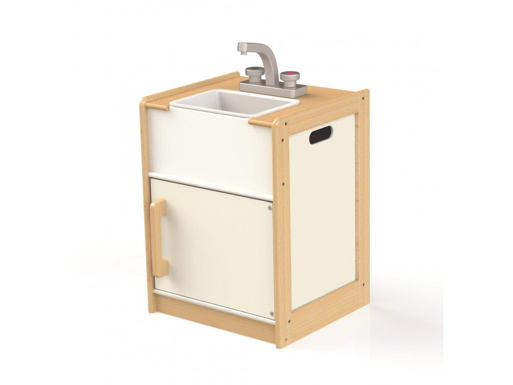 Tidlo Dřevěná skříňka s dřezem Education  + Nanopodložka, loupač, nebo desinfekce