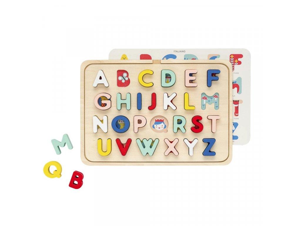 Petitcollage Dřevěné puzzle abeceda
