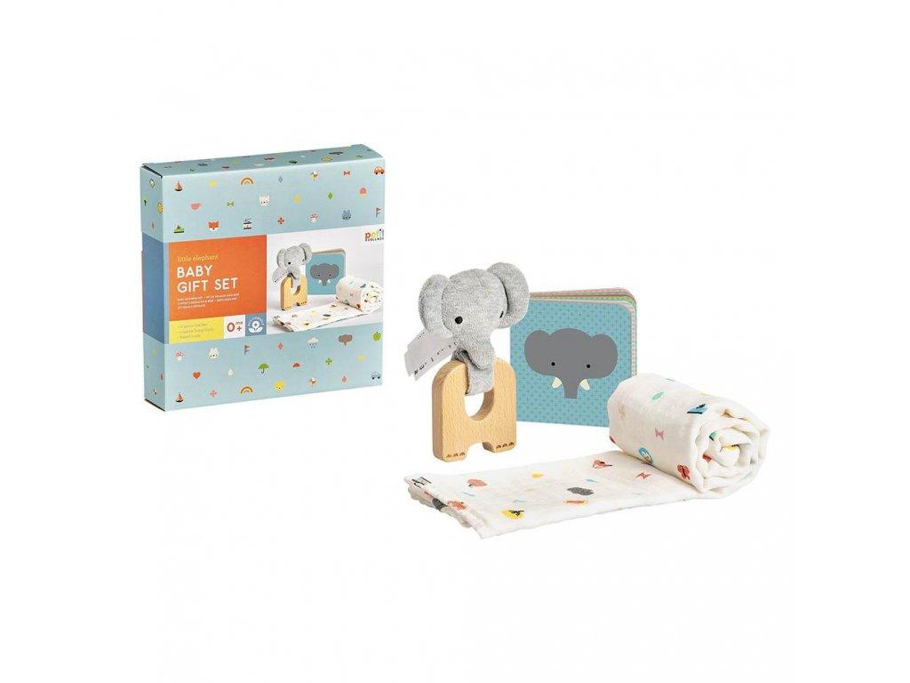 Petit Collage Dárkový set pro miminka slon