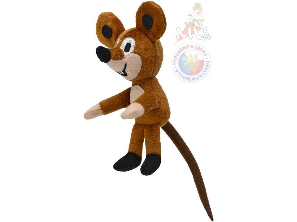 MORAVSKÁ ÚSTŘEDNA Myška s magnetem 12cm Krtek (Krteček) *PLYŠOVÉ HRAČKY*