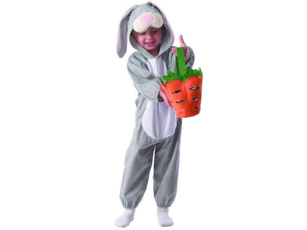 KARNEVAL Šaty králíček vel.XS (92-104 cm) 3-4 roky *KOSTÝM*