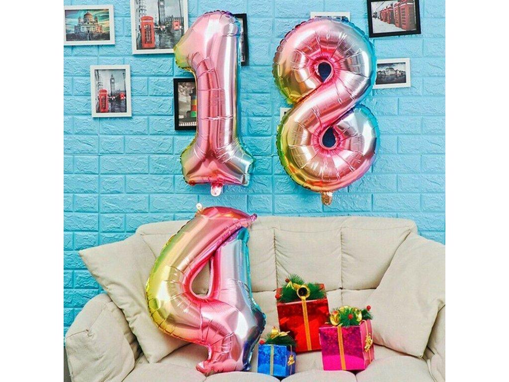 Nafukovací balónky čísla - 9