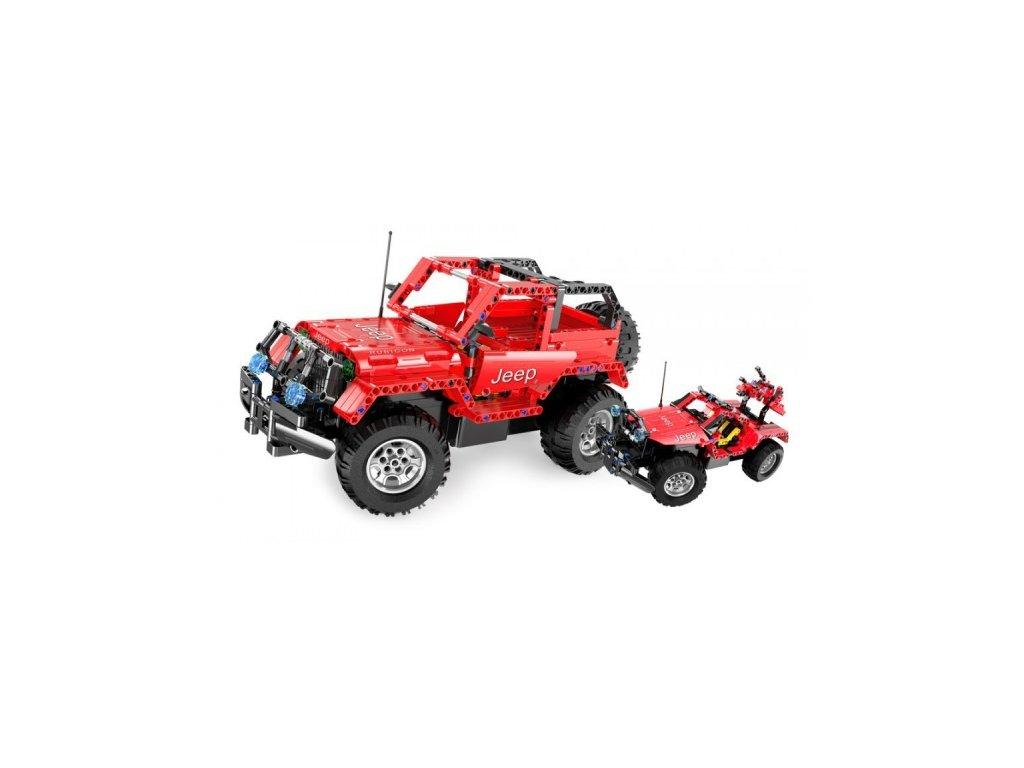 Stavebnice Jeep Wrangler 2v1 - auto na vysílačku  + Nanopodložka, loupač, nebo desinfekce
