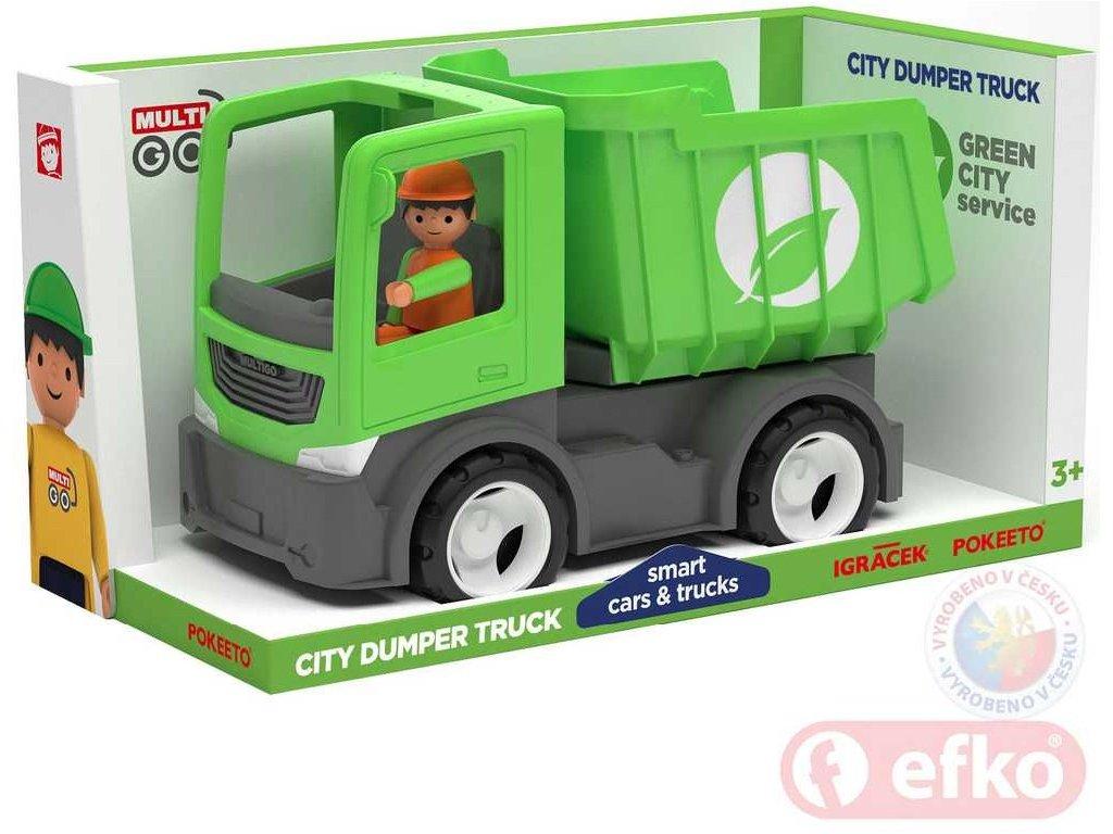 EFKO IGRÁČEK MultiGO CITY auto sklápěčka zelená s řidičem