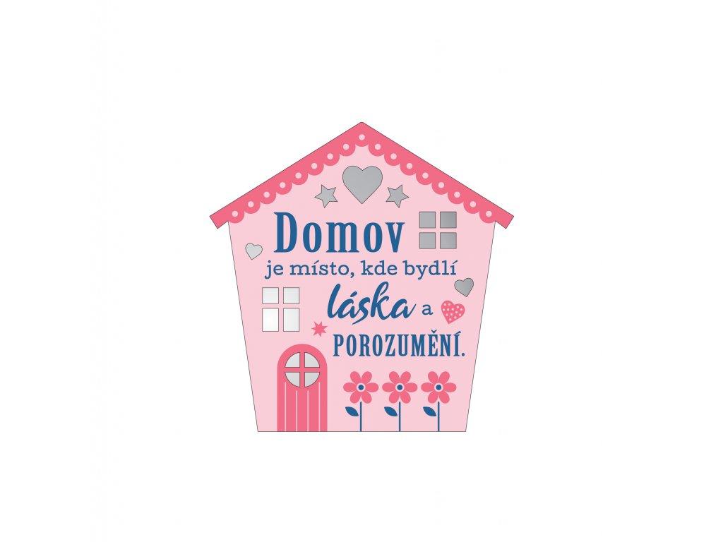 Plaketka dům - Domov