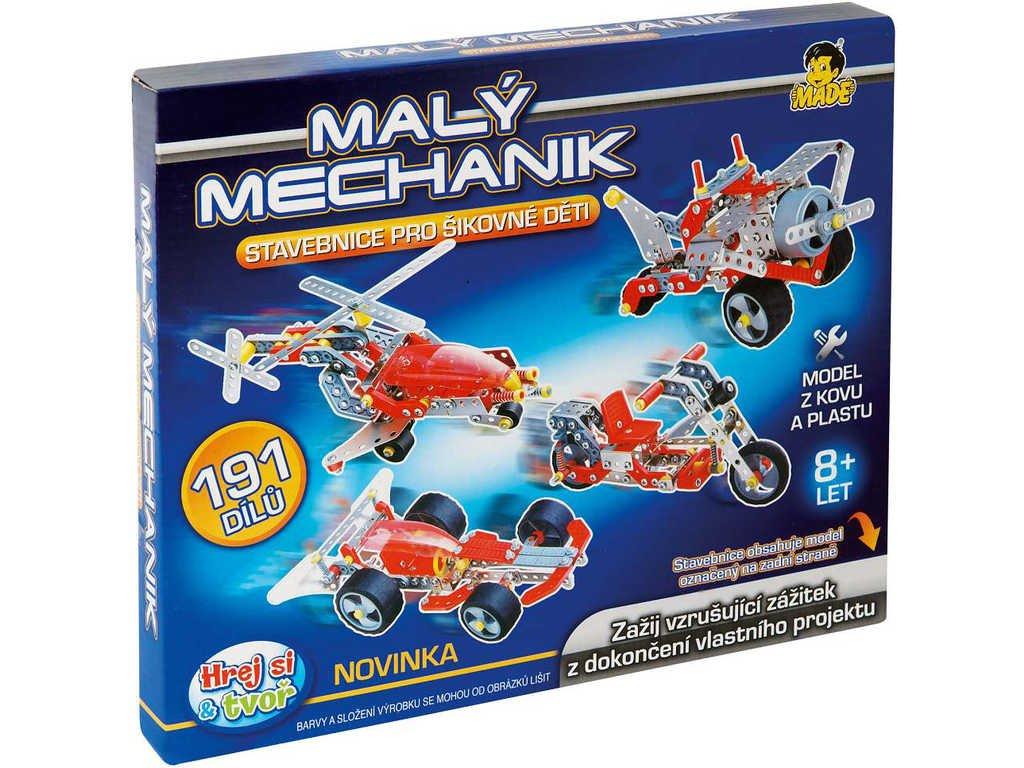 Mechanik malý 30 cm 4 druhy *Stavebnice typu Merkur z kovu a plastu*
