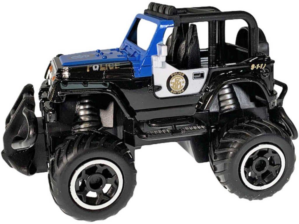 RC Auto policie 13cm na vysílačku 27MHz na baterie 2 barvy Světlo