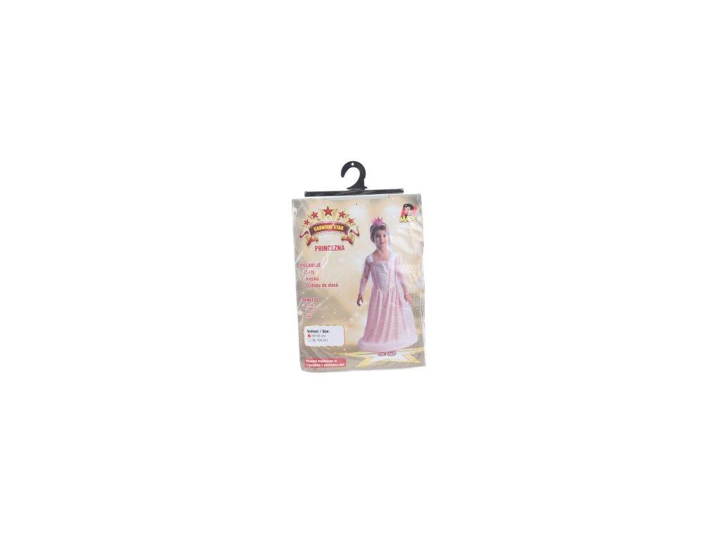 Šaty na karneval - růžová princezna 80 - 92 cm