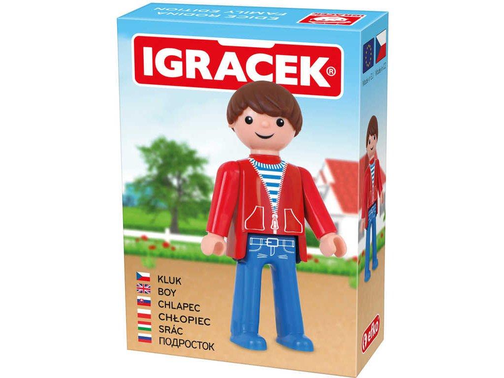 EFKO IGRÁČEK Kluk figurka 7,5cm rodina v krabičce STAVEBNICE