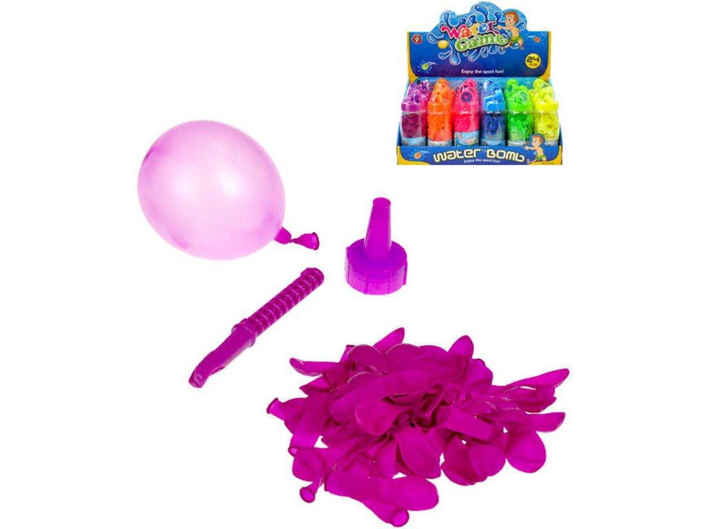 Bomba vodní balonek set 60ks s plničkou 6 barev
