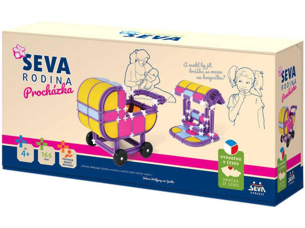 SEVA Rodina Procházka plastová STAVEBNICE 166 dílků