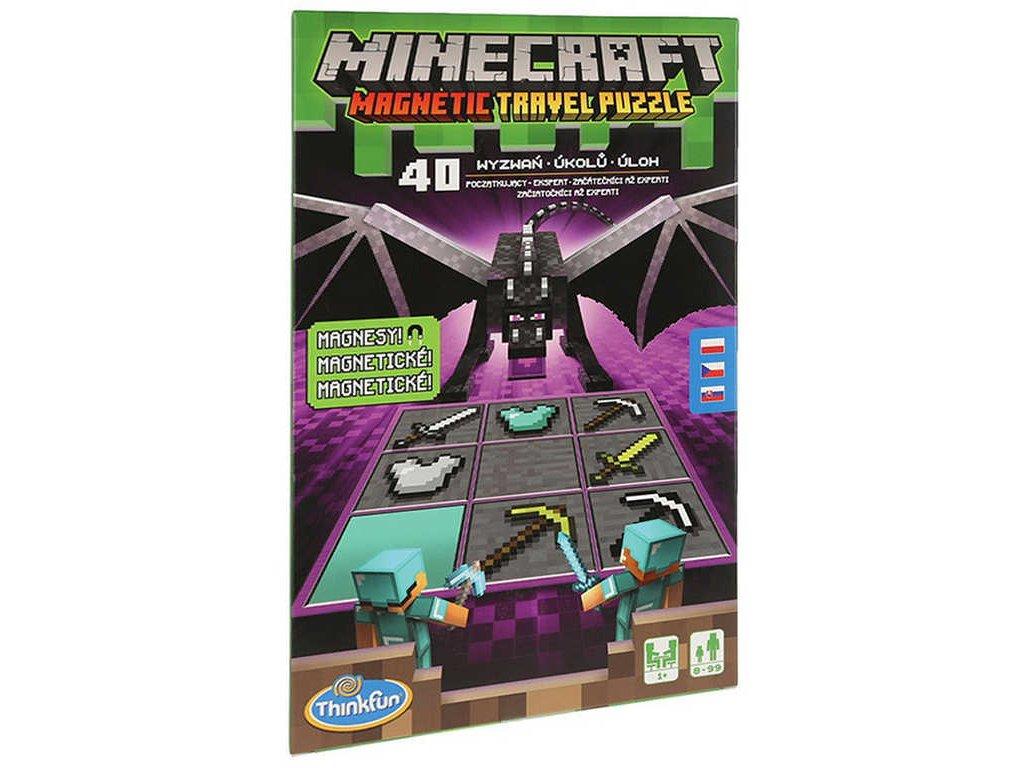 THINKFUN Hra Minecraft cestovní puzzle magnetické 40 úkolů
