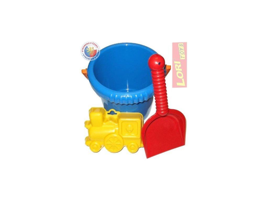 LORI 213 Kyblík na písek set s lopatkou a bábovičkou