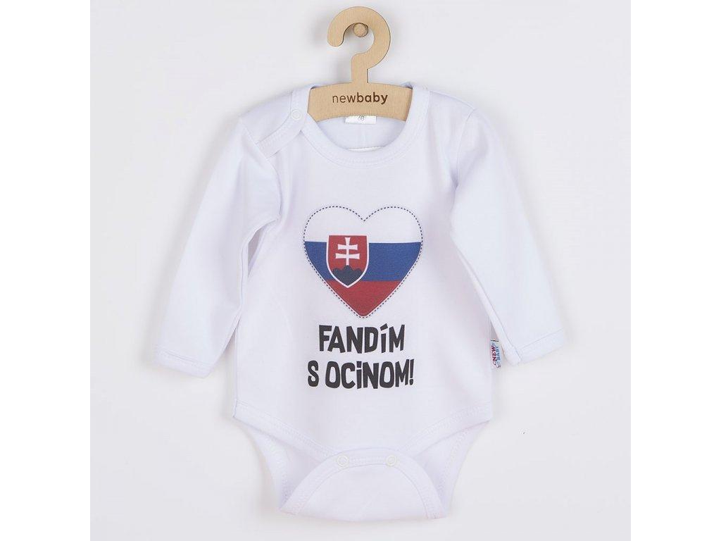 Body s potiskem New Baby Fandím s ocinom