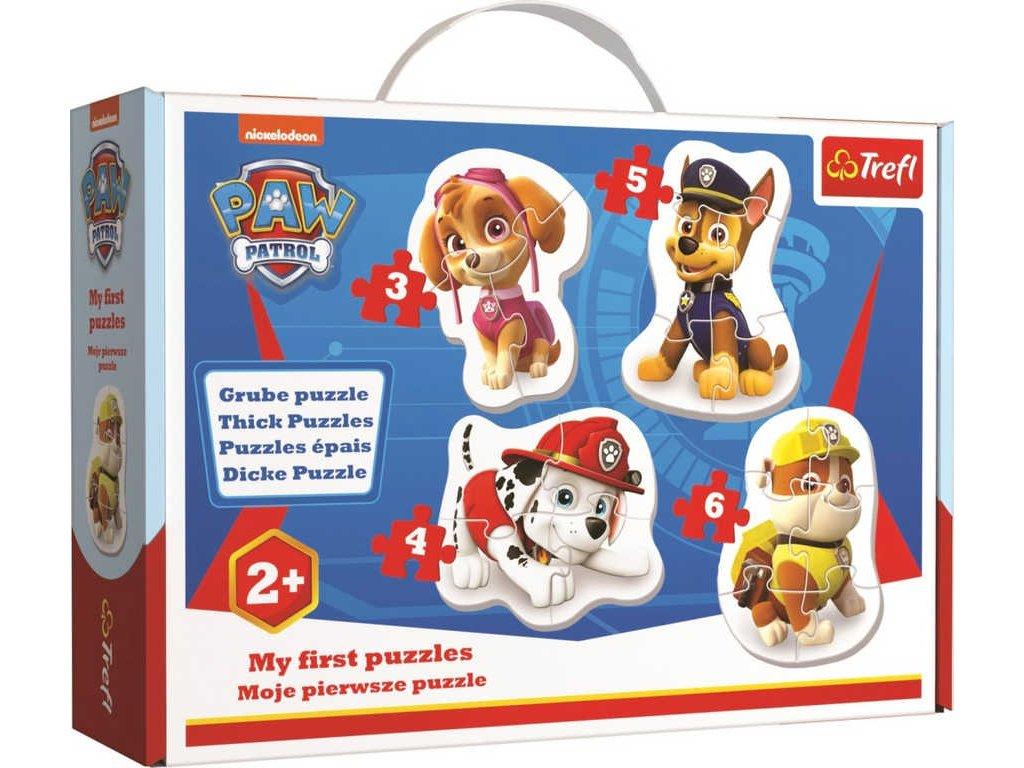 TREFL PUZZLE 4v1 Baby obrysové Tlapková Patrola velké dílky 18ks v krabici