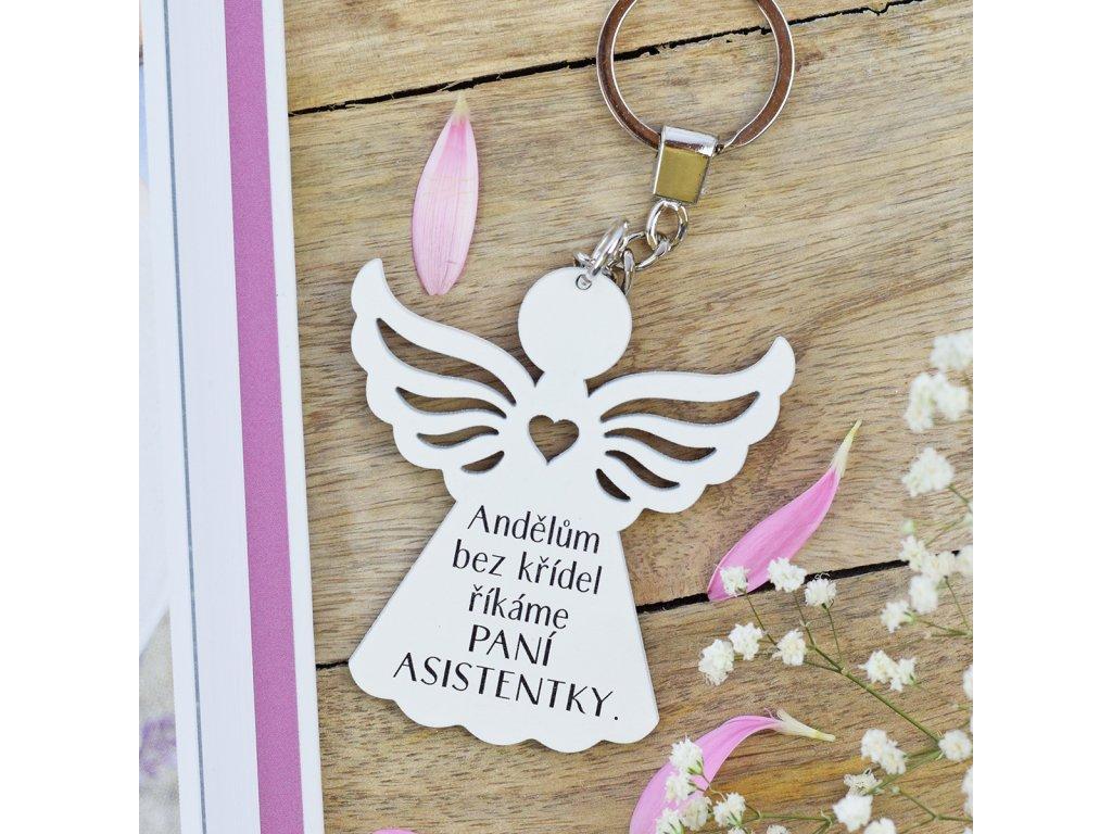 Klíčenka anděl - Paní asistentka
