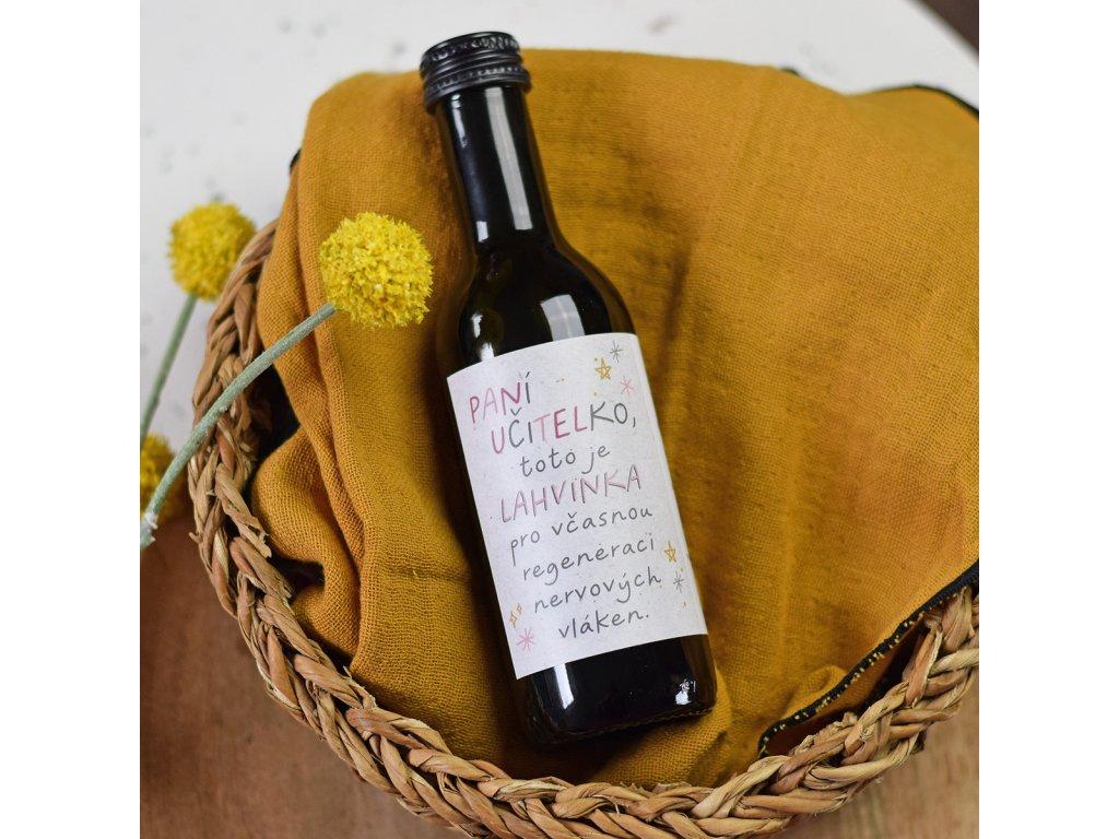 Dárkové víno - Včasná regenerace (Pro paní učitelku)