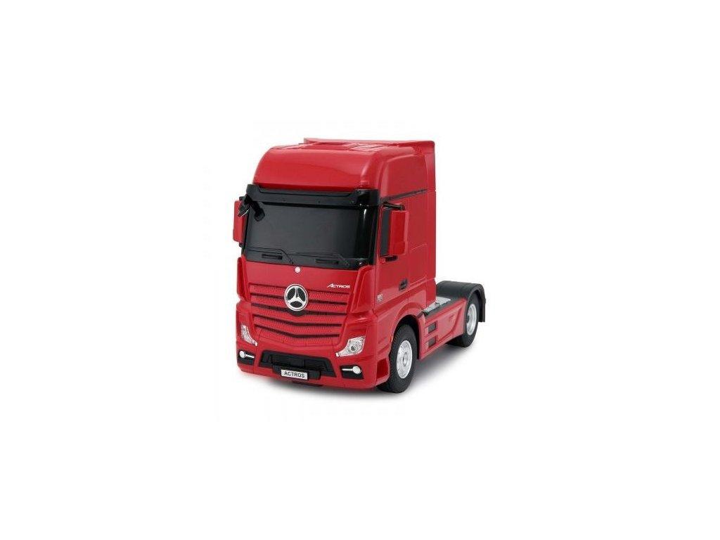 Kamion 2v1 Mercedes-Benz Actros + AMG GT3 1:24 - červený  + Dárek zdarma