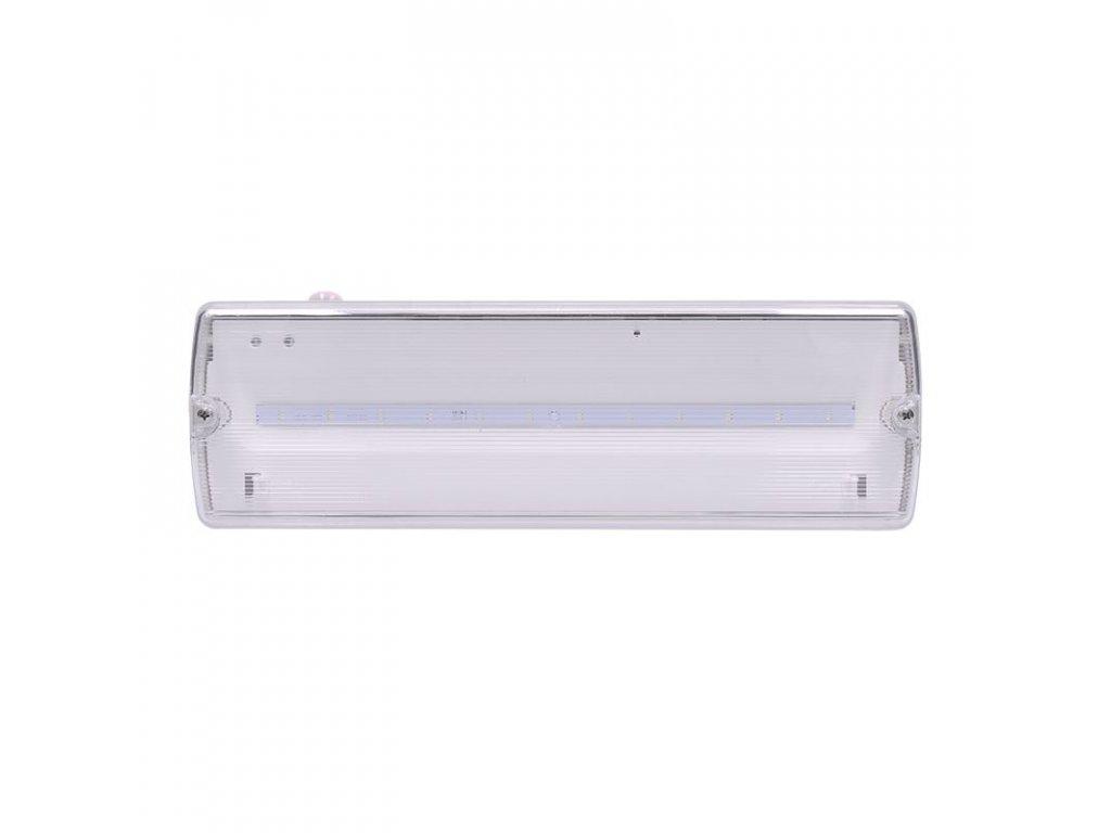 Solight LED nouzové osvětlení, 6W, 270lm, IP65, LiFePo4 1500mAh baterie, autotest  + Dárek zdarma