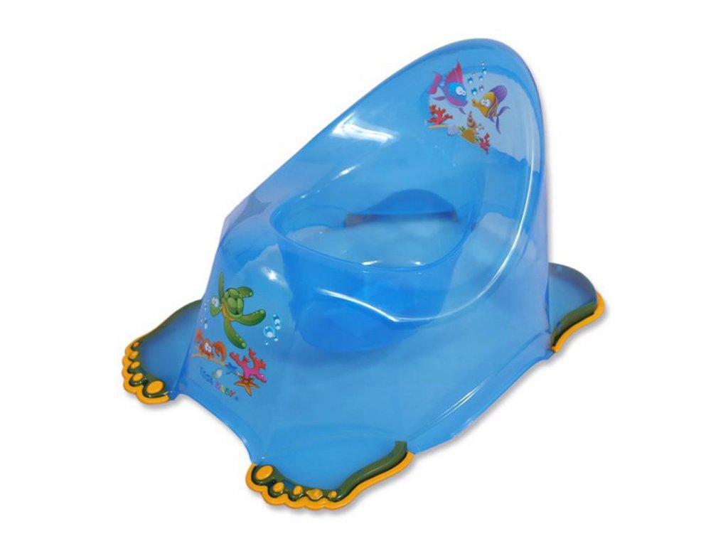 Dětský nočník protiskluzový aqua