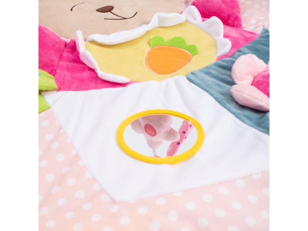 Hrací deka Baby Mix Králíček - dle obrázku  + Nanopodložka, loupač, nebo desinfekce