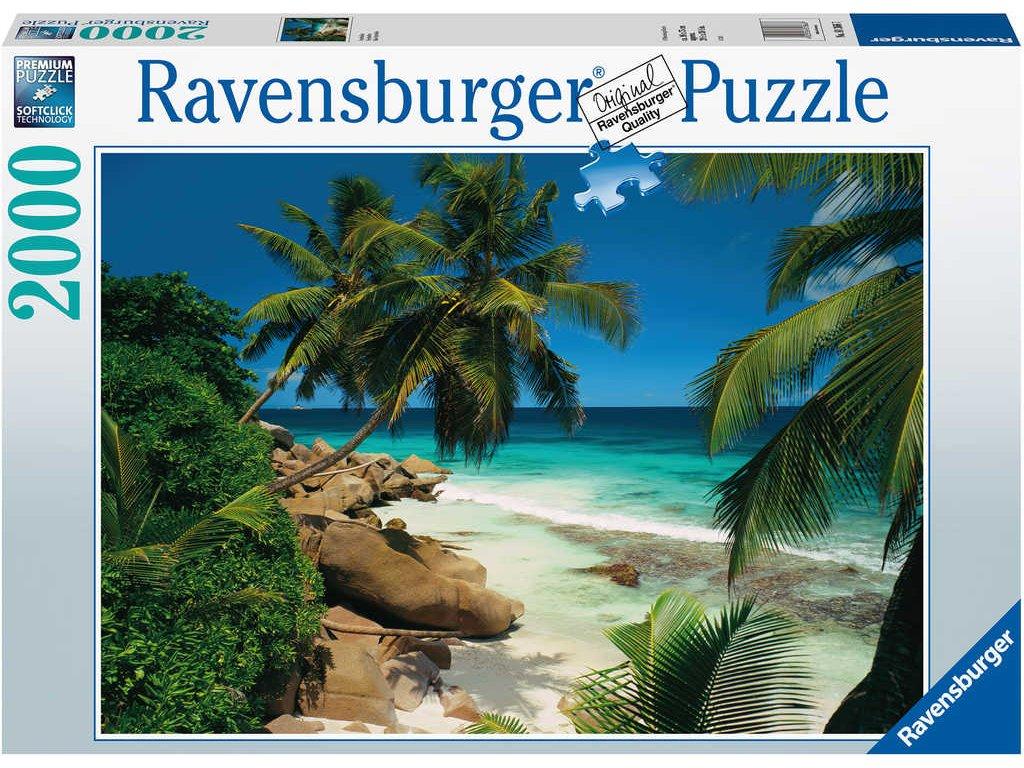 RAVENSBURGER Puzzle Seychely 2000 dílků 98x75cm foto skládačka