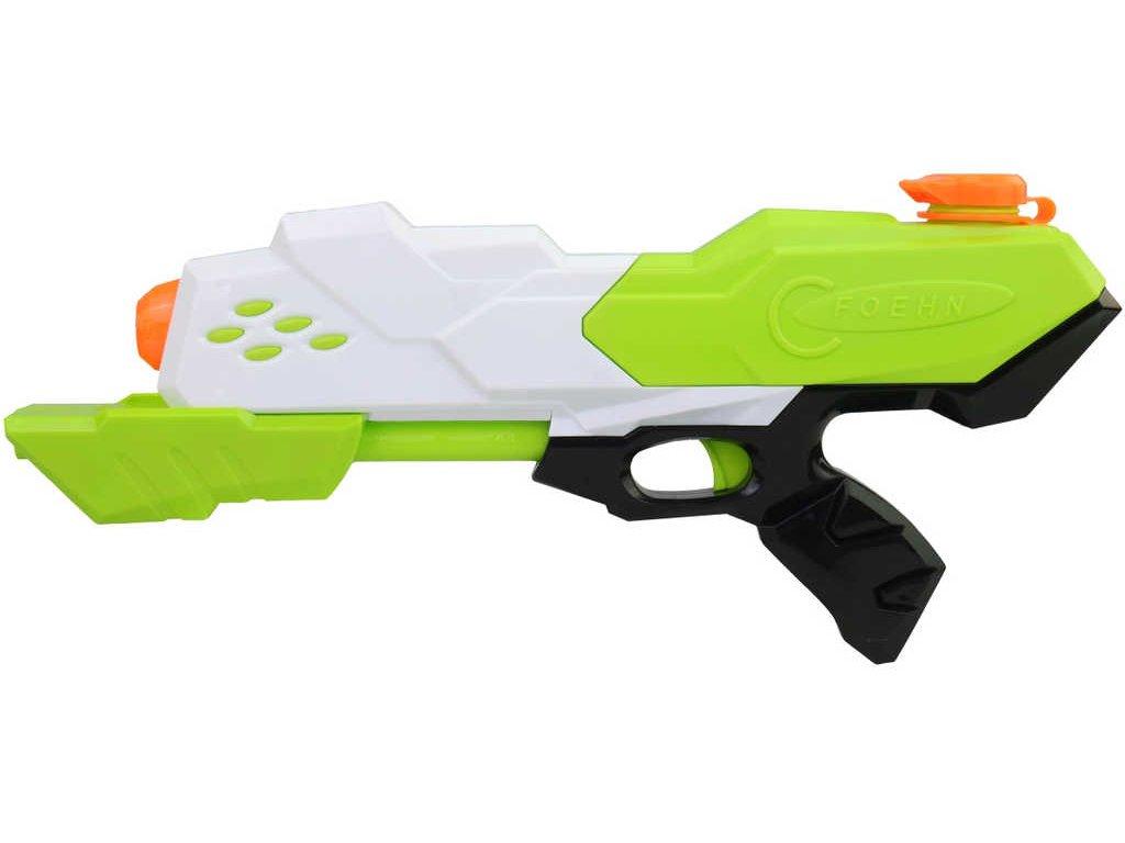 Pistole vodní stříkací 35cm se zásobníkem na vodu 4 barvy plast