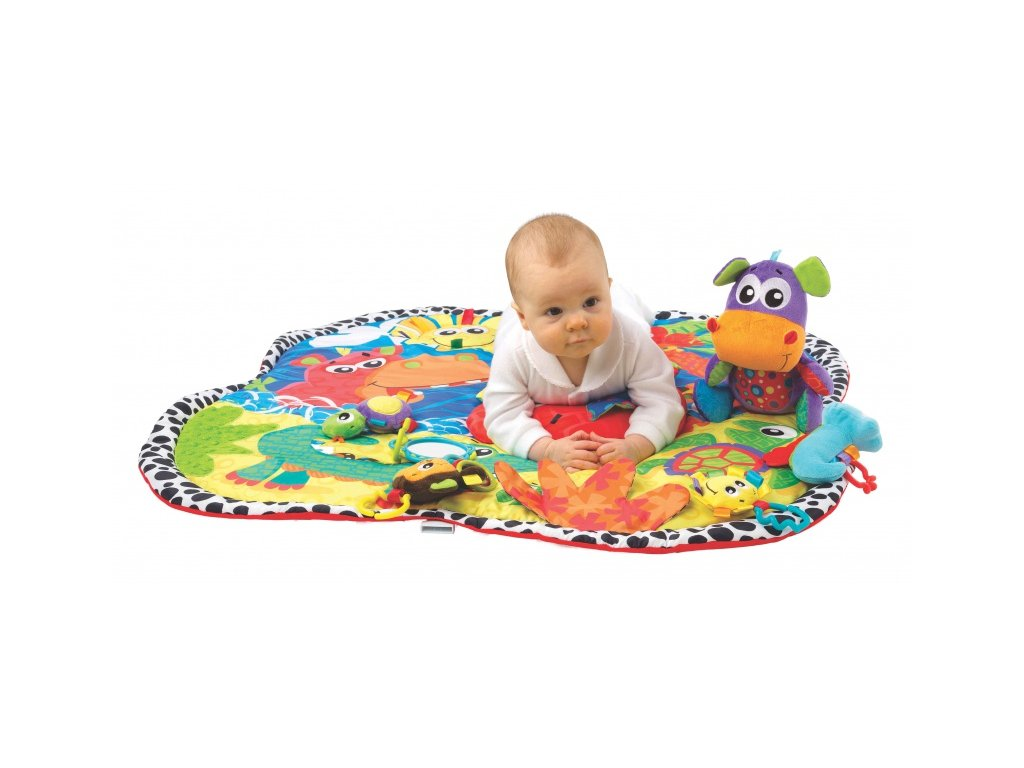 Playgro - Hrací deka zvířátka v džungli