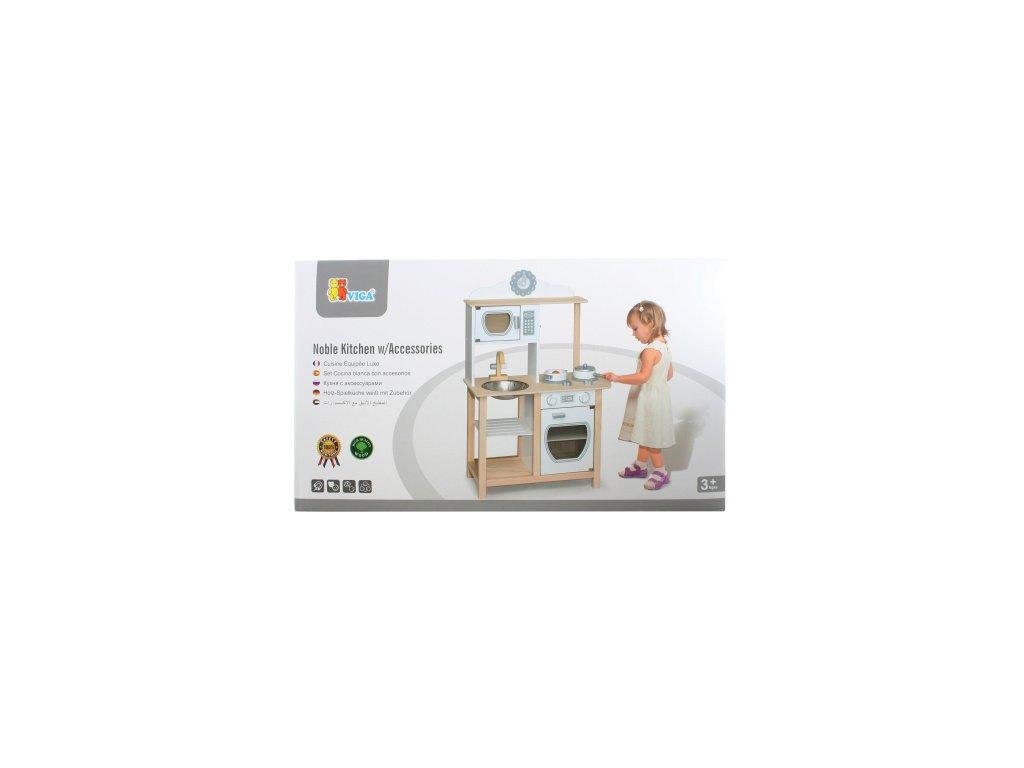 Dřevěná moderní kuchyňka  + Nanopodložka, loupač, nebo desinfekce