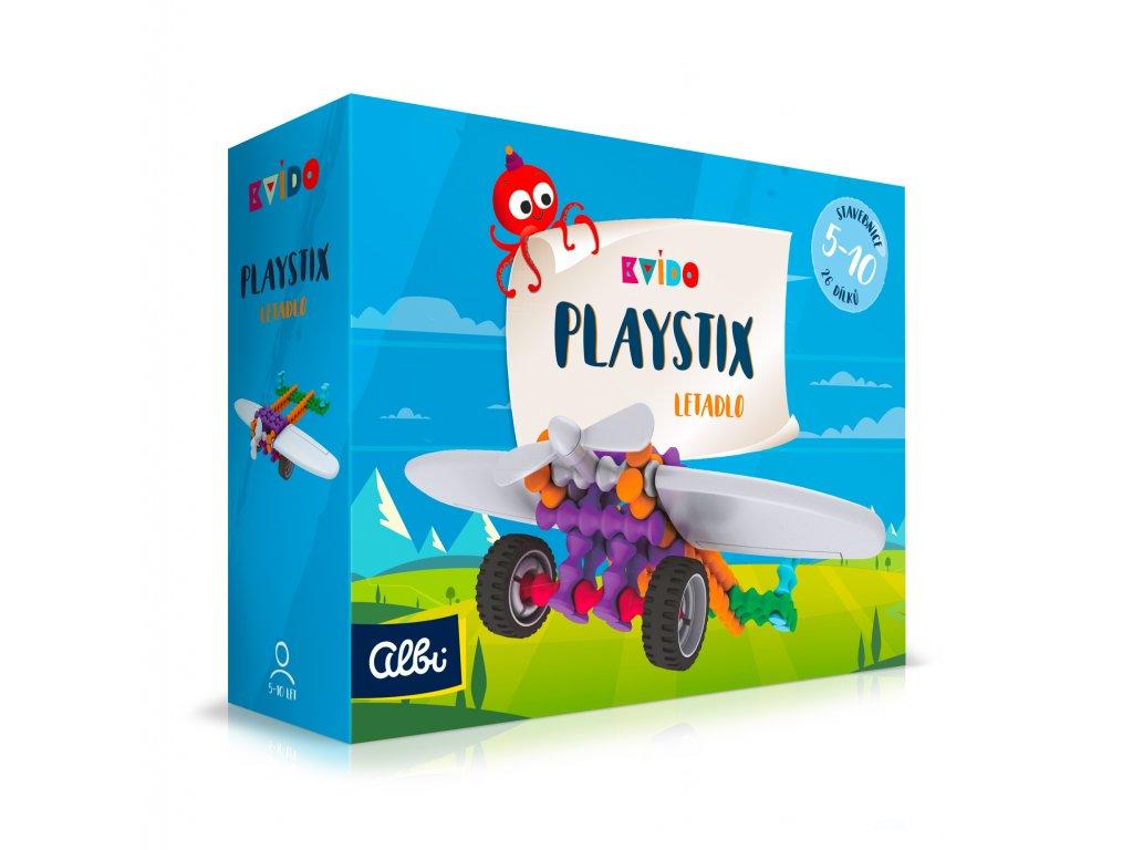 Kvído - Stavebnice Playstix - letadlo 26 dílků