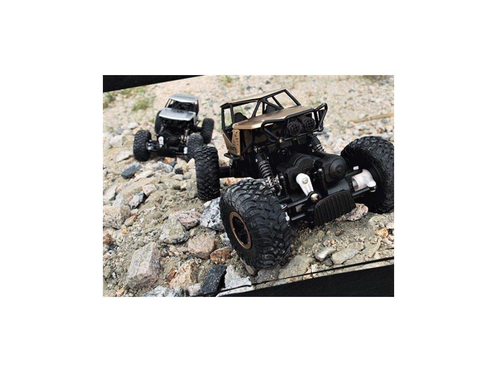 Strong Crawler 4x4 s kovovými díly - stříbrný  + Dárek zdarma