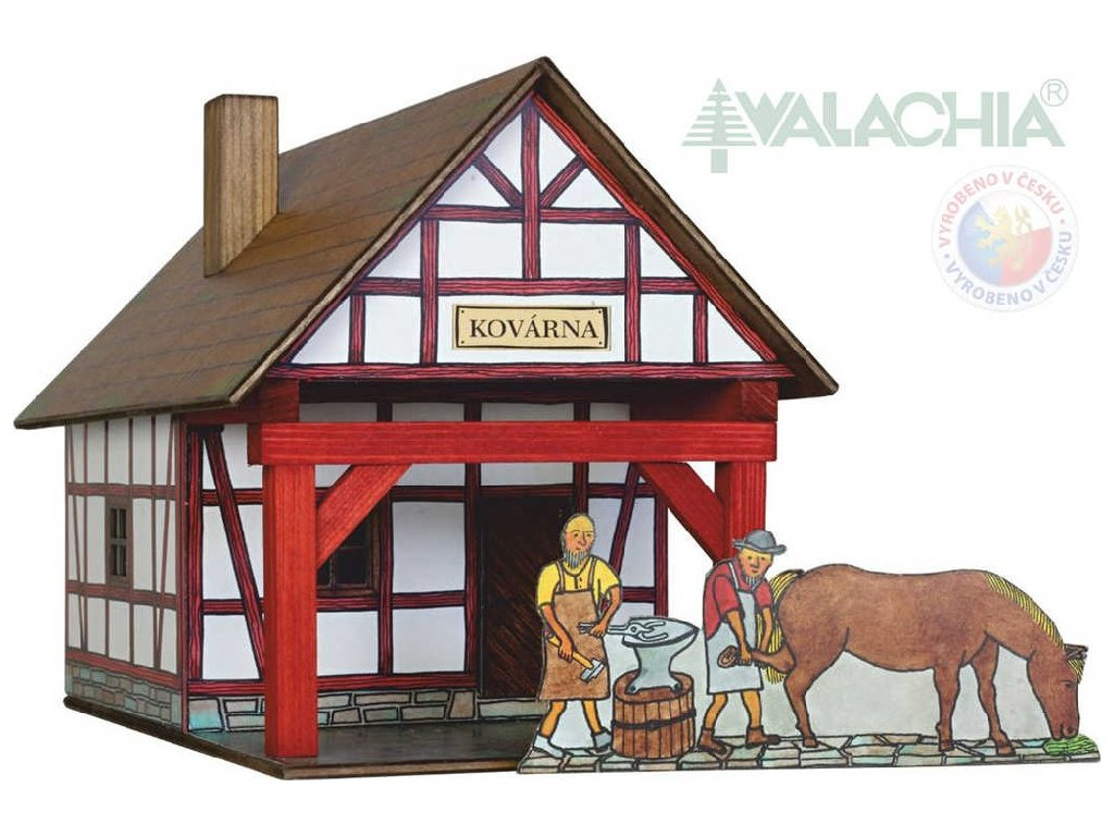 WALACHIA Kovárna hrázděná 33W38 dřevěná stavebnice