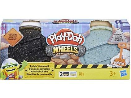 HASBRO PLAY-DOH Wheels kreativní set modelína stavební 2 kelímky s lopatkou 2 druhy