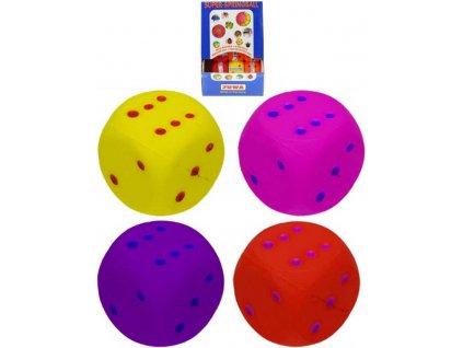 Míček hopík 4,5cm skákací balonek hrací kostka 4 barvy