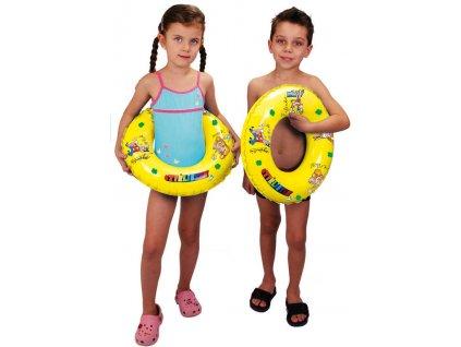 Čtyřlístek nafukovací kruh 50cm plavací kolo žluté do vody
