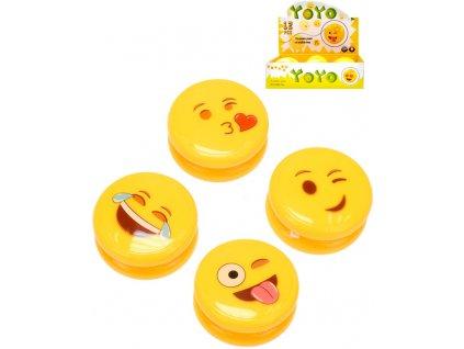 Jojo žluté s obličejem smajlík 6cm na baterie různé druhy Světlo