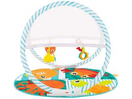 FISHER PRICE Baby dečka hrací se zvířátky cestovní do tašky pro miminko