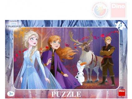 DINO Puzzle deskové 15 dílků 25x15cm Frozen II (Ledové Království)