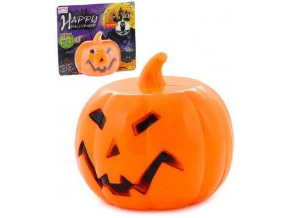 Party Dekorace Halloween dýně 11cm dospělá svítidlo na baterie Světlo Zvuk