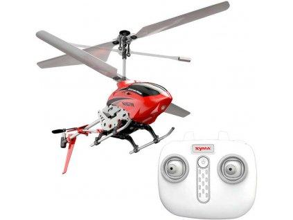 RC Vrtulník Syma S107H na vysílačku 2,4GHz na baterie USB kov LED Světlo  + Dárek zdarma