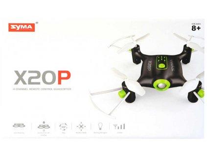 RC Dron Syma X20P na vysílačku 2,4GHz na baterie USB vznášedlo LED Světlo  + Dárek zdarma