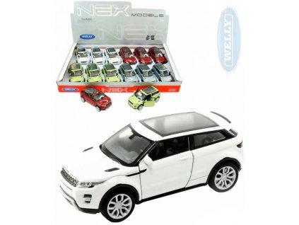WELLY Auto model Range Rover Evoque kov 11cm volný chod 4 barvy