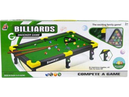 Hra billiard set stůl na mini kulečník 55x30x13cm s doplňky v krabici