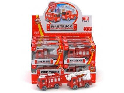 Auto požární zásahové hasiči na setrvačník různé druhy v krabičce