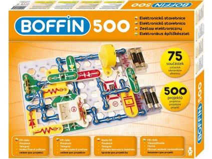 Boffin 500 projektů 75 součástek na baterie elektronická STAVEBNICE  + Dárek zdarma