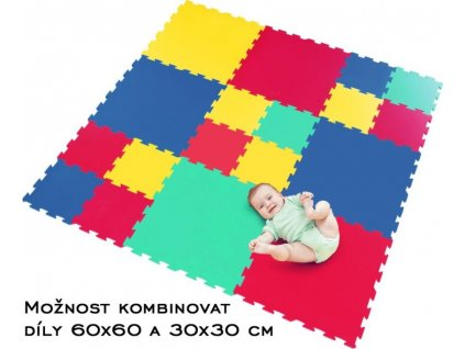 LC Pěnový koberec extra velký zelený 0+